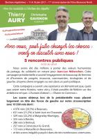 Flyer « Avec vous, pour faire changer les choses : venez en discuter avec nous » - 1re circonscription de l'Oise, 22 mai 2017