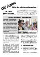 Tract « CDG Express… un train privé inutile… oui à des solutions alternatives - 4e et 5e circonscriptions de l'Oise, 26 mai 2017