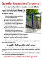 Flyer « Quartier Argentine : l'urgence ! » - 1re circonscription de l'Oise, 29 mai 2017