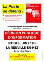 8 juin, La Neuville-en-Hez - Réunion publique « La Poste se défend ! »