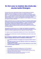 20 novembre, Creil - Solidarité sans papiers-Chaîne humaine pour en finir avec la violation des droits des jeunes isolés étrangers
