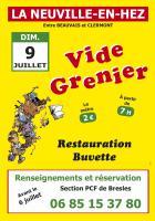Affichette « Vide grenier de la section PCF de Bresles » - La Neuville-en-Hez, 9 juillet 2017