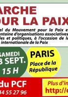 23 septembre, France - Marchons pour la paix !