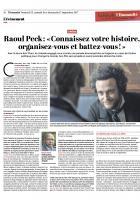 20170915-L'Huma-Monde-Raoul Peck : « Connaissez votre histoire, organisez-vous et battez-vous »