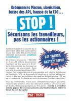 Flyer « Sécurisons les travailleurs, pas les actionnaires ! » - PCF Oise, 21 septembre 2017