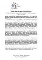 Motion demandant la libération immédiate de Salah Hamouri - Montataire, 25 septembre 2017
