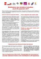28 septembre, Paris - Manifestation des retraités contre la hausse de la CSG et pour la revalorisation des pensions