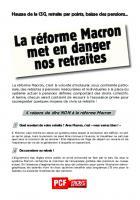 Tract « La réforme Macron met en danger nos retraites » - PCF, 28 septembre 2017