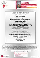 30 septembre, Beauvais - Ligue des Droits de l'Homme-Rencontre citoyenne « Droits de vote des étrangers »