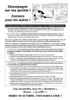 Tract « Champagne sur les yachts, ceinture pour les autres ! » - PCF Oise, 4 octobre 2017