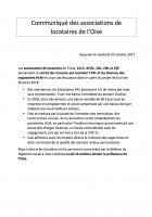 Communiqué des associations de locataires de l'Oise - 20 octobre 2017