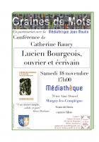 18 novembre, Margny-lès-Compiègne - Graines de Mots-Conférence « Lucien Bourgeois, ouvrier et écrivain »