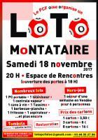 Affichette «Super LOTO ! des communistes de l'Oise » - PCF Oise, 31 octobre 2017