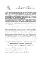 Tract « En finir avec la violation des droits des Jeunes isolés étrangers » - Creil, 20 novembre 2017