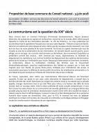 Conseil national du PCF des 2 & 3 juin 2018 - Proposition de base commune et Commissions