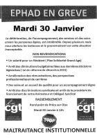 Tract « Ehpad en grève » - UL CGT Bassin creillois, 30 janvier 2018