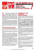 Tract « Défendons toutes et tous la Fonction publique » - CGT Fonction publique, 13 février 2018