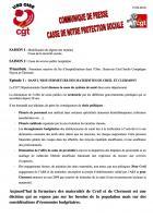 Communiqué de presse « Casse de notre protection sociale » - USD CGT Oise, 15 février 2018