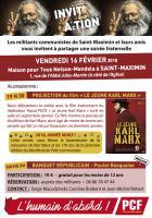16 février, Saint-Maximin - Banquet républicain de la section PCF de Saint-Maximin et projection de « Le jeune Karl Marx »