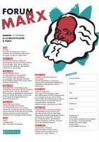 Forum Marx : le programme