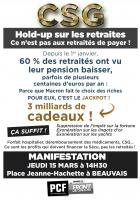 Tract « Hold-up sur les retraites : ce n'est pas aux retraités de payer ! » - PCF Beauvais, 15 mars 2018