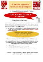 Tract « Les retraités, les salariés ne sont pas des privilégiés ! » - USR et UD CGT Oise, 23 février 2018