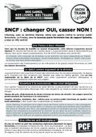 Tract « SNCF : changer OUI, casser NON - Mon train, j'y tiens - SNCF 100 % public » - PCF Picardie, 19 et 20 mars 2018