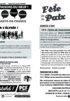 Flyer « Marche sur l'Élysée - Fête de la Paix » - PCF Oise, 22 mars 2018