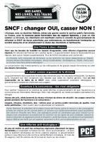 Tract « SNCF : changer OUI, casser NON - Mon train, j'y tiens - SNCF 100 % public » - PCF Oise, 23 mars 2018