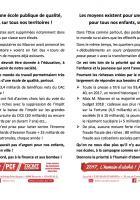 Flyer « Les moyens existent pour une école publique de qualité, pour tous nos enfants, sur tous nos territoires » - PCF Beauvais, 7 avril 2018