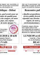 Flyer « Usagers, cheminots, citoyens : tous ensemble pour un grand service public ferroviaire ! » - PCF Beauvais, 9 avril 2018