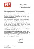 Décès de Lucienne Fabre-Sébart - Communiqué de Pierre Laurent
