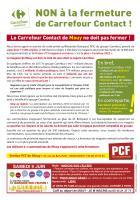 Tract « Le Carrefour Contact de Mouy ne doit pas fermer ! » - PCF Mouy, avril 2018
