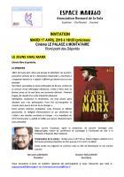 Invitation à la projection-débat « Le Jeune Karl Marx », avec Yann Le Lann - Espace Marx60, 17 avril 2018