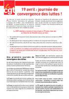 Tract « 19 avril : journée de convergence des luttes » - CGT, avril 2018