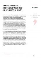 Communiqué de presse de la LDH : « Immigration et asile : des objets d'inquiétude ou des sujets de droit ? » - 2 mai 2018