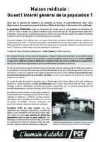 Tract « Maison médicale : où est l'intérêt général de la population ? » - Crépy-en-Valois, 15 mai 2018
