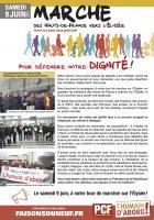 Tract « Marche des Hauts-de-France vers l'Élysée pour défendre notre dignité ! » - PCF Oise, 9 juin 2018