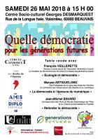 26 mai, Beauvais - LDH-Table ronde « Quelle démocratie pour les générations futures ? »