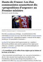 20180609-20 Minutes-Hauts-de-France-Les élus communistes soumettent dix « propositions d'urgence » au Premier ministre