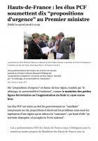 20180609-F3 Hauts-de-France-Les élus PCF soumettent dix « propositions d'urgence » au Premier ministre