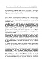 Contribution de Catherine Dailly suite à la consultation relative au PRS Hauts-de-France - Conseil départemental de l'Oise, 11 juin 2018