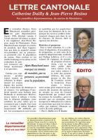 Lettre cantonale de Catherine Dailly & Jean-Pierre Bosino - Canton de Montataire, juin 2018