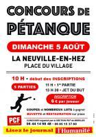 5 août, La Neuville-en-Hez - Concours de pétanque de la section PCF de Bresles