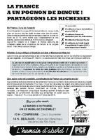 Tract « Pour un autre avenir, on se mobilise ensemble ! » - PCF Ribécourt-Noyon, 9 octobre 2018