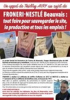 Flyer « Froneri-Nestlé Beauvais : tout faire pour sauvegarder le site, la production et tous les emplois » - PCF Beauvais, 20 octobre 2018