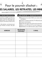Pétition « Pour le pouvoir d'achat : augmenter les salaires, les retraites, les minima sociaux » - Oise, décembre 2018