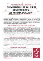 Tract « Pour le pouvoir d'achat : augmenter les salaires, les retraites, les minima sociaux » - Oise, décembre 2018