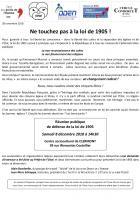 8 décembre, Clermont - Libre Pensée-LDH-…-Réunion publique de défense de la loi de 1905