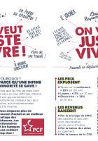 Flyer « On veut juste vivre » - PCF Beauvaisis, 24 janvier 2019